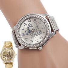 Fashion Women Butterfly Pattern Digital Quartz Bracelet Big Dial Wrist Watches