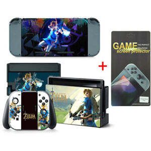 Zelda Vinyl Decal Cover Skin Stickers for Nintendo Switch w/ Screen Protector