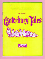 Vintage Souvenir Programme ~ Chaucer's CANTERBURY TALES ~ 1969 ~ Theatre Royal