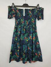 ASOS Ladies dress off shoulder short sleeve multicoloured size 10 new w/ tag 02