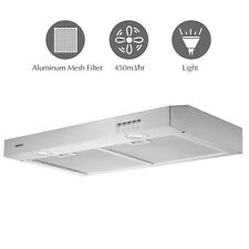 "30"" Range Hood Under Cabinet Stainless Steel Push Panel Kitchen w/ Carbon Filter"