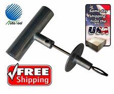 "Die Cast Aluminum Tire Plug Installation Tool, 4"" needle, repair kit HEAVY DUTY"
