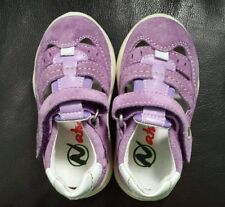 NATURINO Baby Toddler Girls Leather Suede Shoes Purple EU 20 US 4 New arch suppo