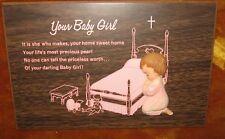 New listing Your Baby Girl Christian Prayer Wall Hanging Nursery