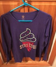 Total Girl Purple Long Sleeve Shirt With Ice Cream Design Size XXL Plus 20.5
