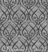 Large  Wall  Floral Negative Stencil Home Decor Ctaft  Airbrush Pattern