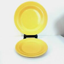 Crate And Barrel Bosco Ware Beehive Rings Set Of Dinner Plate & Salad Plate 2 pc
