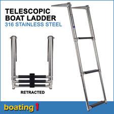 316 stainless steel 3-step telescopic boat ladder- marine grade transom boarding