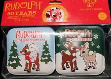 2-SET RUDOLPH THE RED-NOSED REINDEER BATH BOOKS Baby Toddler Soft 50 Years NEW