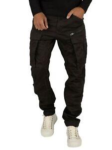 G-Star Men's Rovic Zip 3D Straight Tapered Cargos, Black