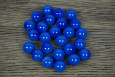 Pack of 25 Blue Swirl Glass Marbles 9/16 inch diameter [C3]