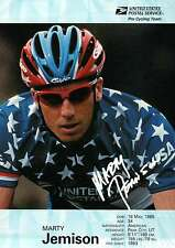 """ Marty Jemison "" Pro Cycling Team, USPS, Bicycling, Cyclist -- 5"" x 7"" Postcard"