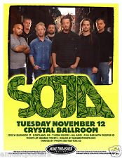 SOJA 2013 PORTLAND CONCERT TOUR POSTER - Soldiers Of Jah Army, Reggae Music