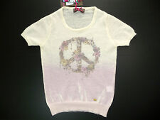 AMELIE ET AMELIE PULL MOHAIR SANS MANCHE PEACE AND LOVE 36 - 38 NEUF