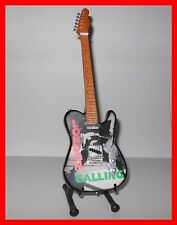 THE CLASH - GUITARE ELECTRIQUE MINIATURE LONDON CALLING ! JOE STRUMMER PUNK ROCK