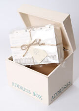 EAST OF INDIA Lovely  Wooden Address Box Shabby Chic