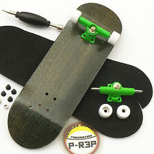 P-Rep - 30mm Basic Complete Wooden Fingerboard - Black with Bearings and Nuts
