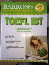 TOEFL iBT -Barron's Book - NEW!!