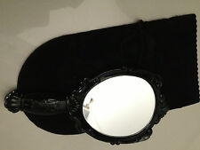 Anna Sui black Hand Held Mirror with drawstring pouch  BNIB