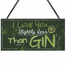 Novelty GIN Friendship Plaque Alcohol Gin & Tonic Birthday Sign Home Bar Gift