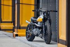 """Motorbike LED Headlights 75W RHD + LHD 7"""" Black FLY EYE Lens & DRL 775"""