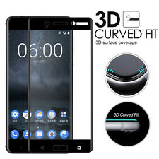 3D Full Coverage Tempered Glass Screen Protector For Nokia 3 5 6 8 & 6 2018