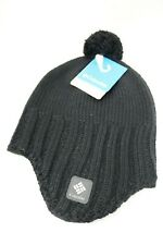 a36bd5e9cc7 Columbia Renegade Ride Earflap Beenie Hat Unisex Black Knit Size OS