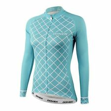 Women's Cycling Jersey Bicycle Clothings Shirt Top Long Sleeve Back Pocket Blue