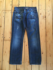 MISS SIXTY LADIES DISTRESSED 'KAREN' DARK BLUE DENIM JEANS W28 L28