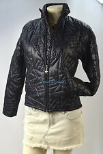 TOMMY Jeans HILFIGER Puffer Jacket thin quilted COAT moto PARKA Womens SZ S NEW