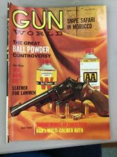 Vintage Gun World Magazine March 1968  Snipe Safari In Morocco Savage Model 10