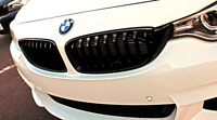 NEW GENUINE BMW 4 F32 F33 F36 M PERFORMANCE BLACK KIDNEY GRILLE LEFT+RIGHT