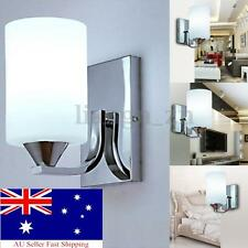 Modern White Glass LED Wall Light up Down Cylinder Indoor Outdoor Lighting Lamp