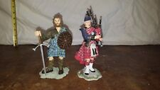 Sculptures UK All Handmade William Wallace and  Scottish Bagpiper