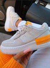 """Nike Air Force 1 Shadow """"Vast Grey/Laser Orange/White"""" Unisex UK 5 & 6"""