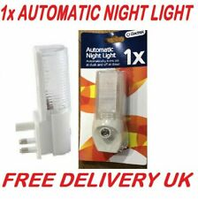 1x/2x Automatic On Off LED Plug In Night Light Dusk To Dawn Energy Saving Safety