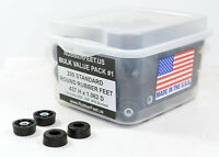 200 ROUND RUBBER FEET BUMPERS w/SCREWS BULK VALUE PACK #1 - 1/2 H x 1 W US MADE