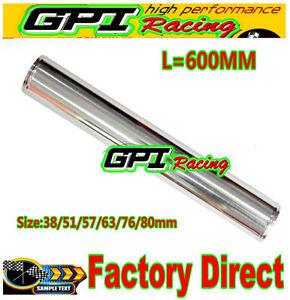 "80 mm 3 1/8"" Straight Aluminum Turbo Intercooler Pipe Tube Tubing 600 MM"