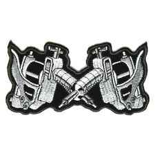 Embroidered Tattoo Guns Sew or Iron on Patch Biker Patch