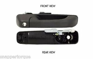 Exterior Door Handle WITH KEY HOLE, BLK 333-50006-171 Front Passenger Side, RH
