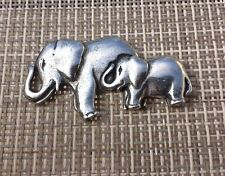 Follow The Mother 1 AFAICA ZOO ANIMALS MOTHER & BABY ELEPHANT PEWTER PIN ALL NEW