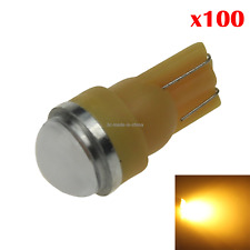 100x Yellow Car T10 W5W Side Light Lamp Marker Lamp Lens 2 5630 SMD LED Z20423