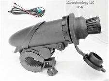 """Motorcycle 12V Cigarette Lighter Plug & Socket  Outlet Handlebars 7/8 - 1/4"""""""