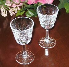 Two Waterford Irish Crystal - Lismore Design - Sherry