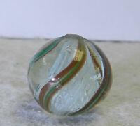 #12838m Vintage German Handmade Latticino Swirl Marble .58 Inches
