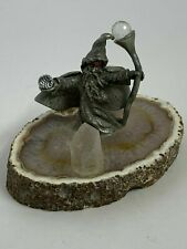 Spoontiques Collectable Pewter Wizard Standing on Crystal Slab, 3x2.25x2""