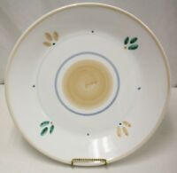 """Rare 16"""" Caleca Peach Garland Large Round Serving Platter Plate - Hand Painted"""