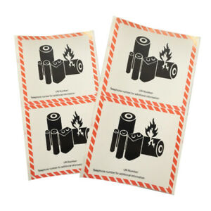 50Pcs CAUTION Keep Away Dangerous Goods Security Sign Tags Warning Label Sticker