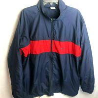 Vintage Nike Full Zip Windbreaker Jacket Mens Size XL Blue Red 90s