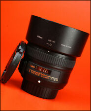 Nikon AF - 50mm F1.8 G Enfoque automático Prime S Marco Completo Lente + Tapas Lente F/R + Capucha